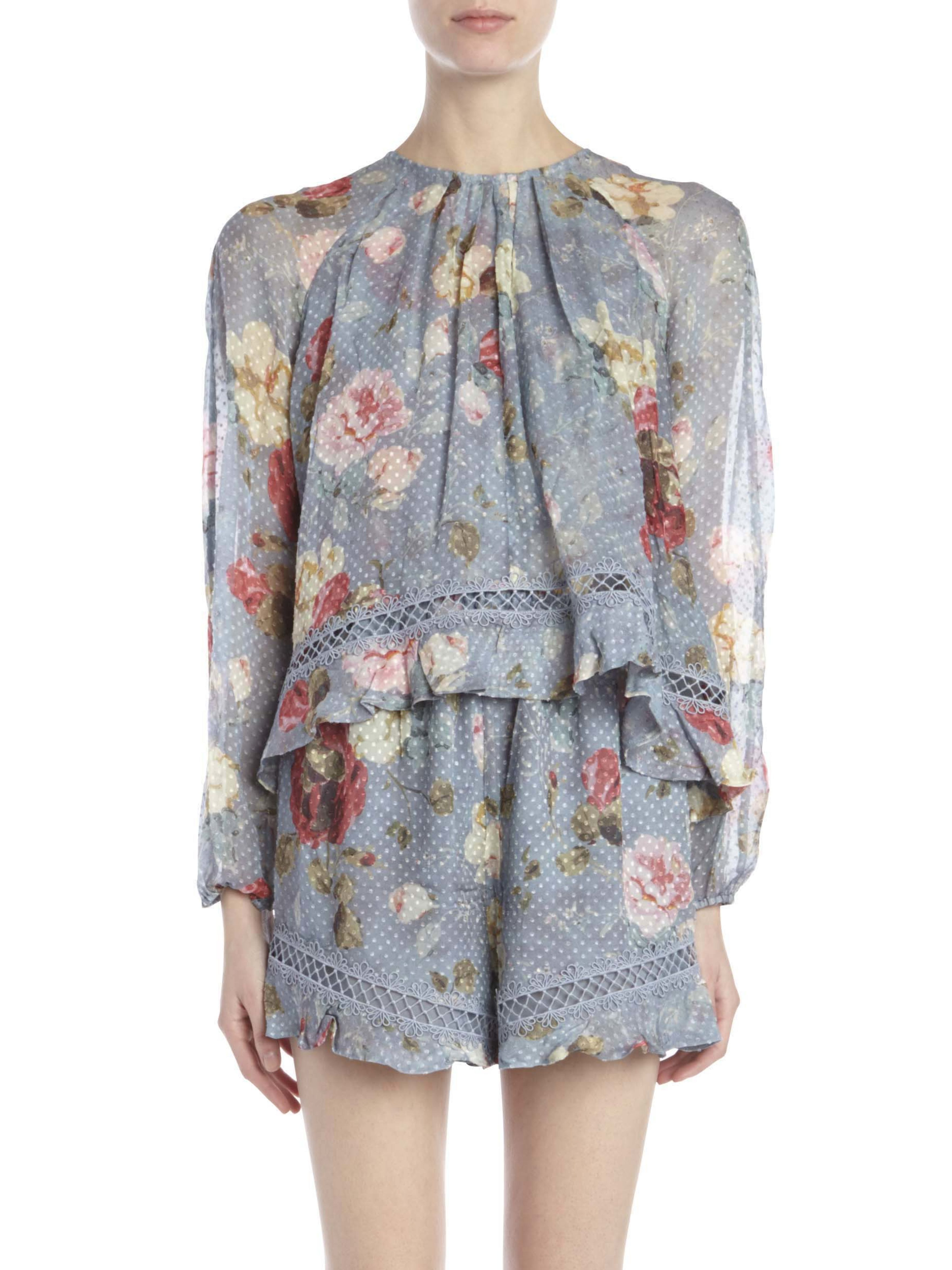 find lowest price lower price with favorable price Havoc Floating Layered Playsuit - Size 0